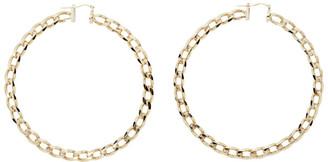 Jacquemus Gold Les Creoles Gourmette Hoop Earrings