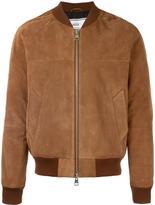 Ami Alexandre Mattiussi Suede bomber jacket - men - Cotton/Suede - S