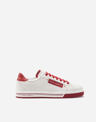 Dolce & Gabbana Roma Sneakers In Printed Calfskin Nappa