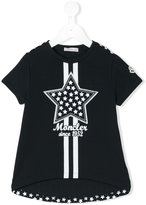 Moncler star patch T-shirt - kids - Cotton/Spandex/Elastane - 2 yrs