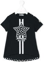 Moncler star patch T-shirt - kids - Cotton/Spandex/Elastane - 4 yrs