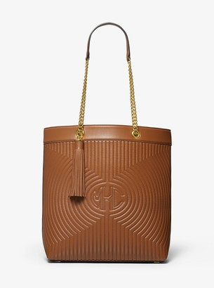 MICHAEL Michael Kors Monogramme Quilted Leather Chain Tote Bag