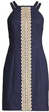 Lilly Pulitzer Women's Pearl Lace Trim Shift Dress