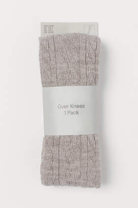 H&M Over-knee Socks - Brown