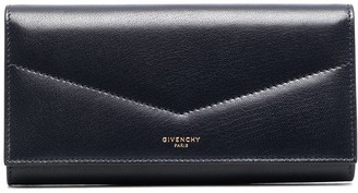 Givenchy Goatskin Leather Flap Wallet