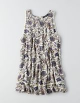American Eagle AEO Floral Lace-Up Back Vest