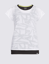 M&S Collection Double Layer Sports T-Shirt
