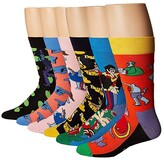 Happy Socks Beatles LP Collector's Box 6-Pack (Assorted) Men's Crew Cut Socks Shoes