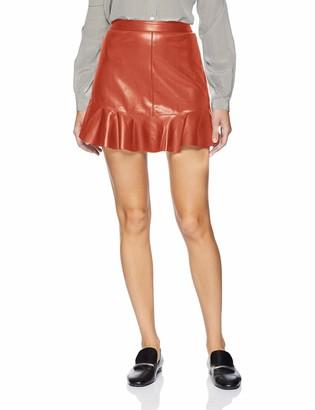 BB Dakota Women's Veni vidi vici Vegan Leather Skirt