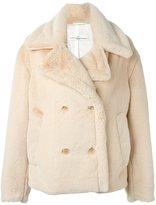 Golden Goose Deluxe Brand oversized faux fur peacoat
