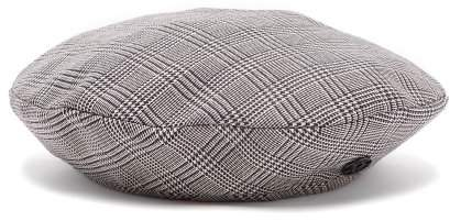 Maison Michel New Billy Prince Of Wales Checked Wool Blend Beret - Womens - Grey
