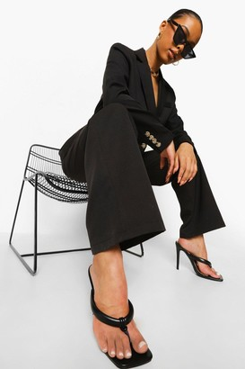 boohoo Belted Relaxed Fit Trousers