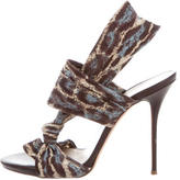 Casadei Woven Multistrap Sandals
