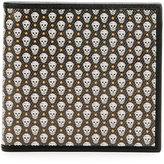 Alexander McQueen Coated Skull Wallet, Green/White