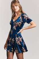 LOVE21 LOVE 21 Floral Velvet Dress