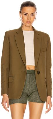 ATTICO Blazer Jacket in Military Green | FWRD