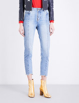 Sandro Stepped-hem straight high-rise jeans