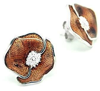 Goldmajor Women 925 Sterling Silver Stud Earrings JWER007B