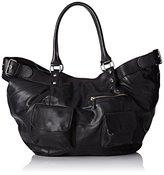 Kiss IKKS Women's Fisherman Shoulder Bag black