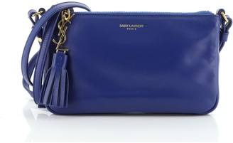 Saint Laurent Teen Monogram Crossbody Bag Leather Mini