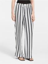 Calvin Klein Striped Soft Wide Leg Pants