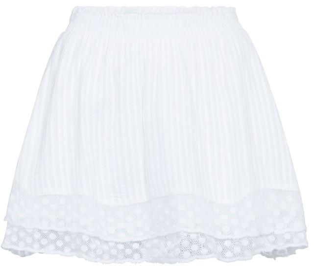 Thumbnail for your product : LoveShackFancy Toya cotton lace miniskirt