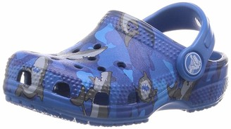 Crocs Kids' Classic Shark Clog | Slip On Shark Shoes for Boys and Girls Prep Blue C7 US Toddler
