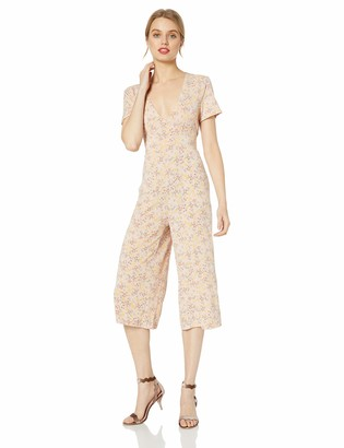 BCBGeneration Women's Allover Floral Cropped Jumpsuit