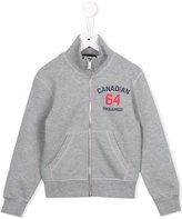 DSQUARED2 Canadian 64 logo zip sweatshirt