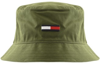 Tommy Jeans Flag Bucket Hat Green