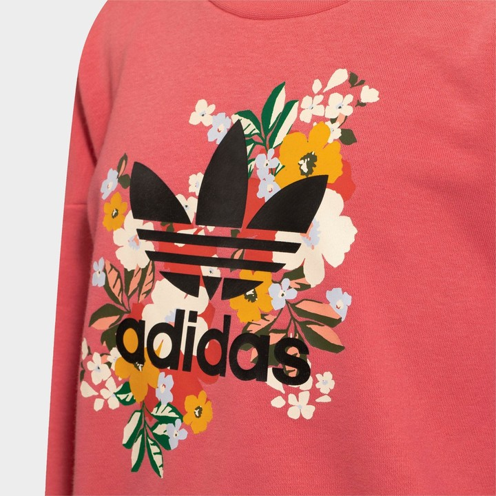 Thumbnail for your product : adidas Girls' Toddler and Little Kids' HER Studio London Floral Crewneck Sweatshirt and Leggings Set