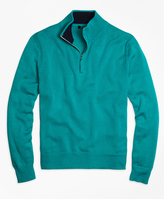 Brooks Brothers Sea Island Cotton Half-Zip Sweater