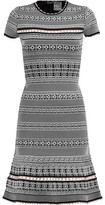 Herve Leger Cutout Jacquard-Knit Dress
