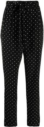 Prada Polka-Dot Print Belted Trousers