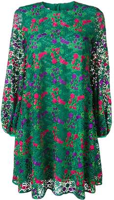 Giamba floral embroidered shift dress