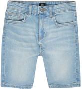River Island Boys blue Sid skinny denim shorts