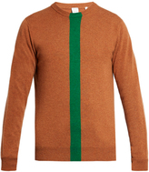 Paul Smith Green-stripe cashmere crew-neck sweater