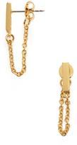 Rebecca Minkoff Chain Loop Stud Earrings