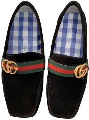Gucci Black Suede Flats