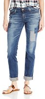 Big Star Women's Kate Straight In Distressed Madison Wash With Patches