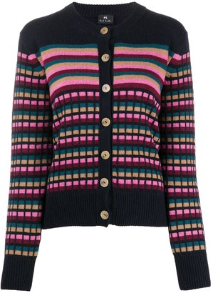 Paul Smith Striped Knit Cardigan
