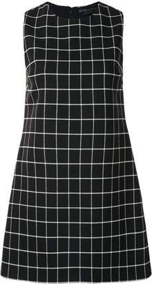 Alice + Olivia Check-Pattern Mini Dress