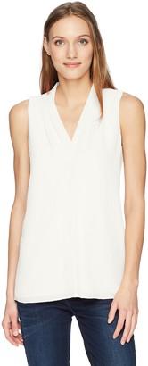 Calvin Klein Women's Sleeveless Crinkle Blouse