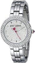 Betsey Johnson Women's BJ00429-01 Analog Display Quartz Silver Watch