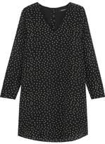 Madewell Star-print Silk Crepe De Chine Mini Dress