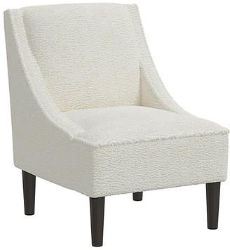 One Kings Lane Quinn Swoop-Arm Chair - Sheepskin Ivory