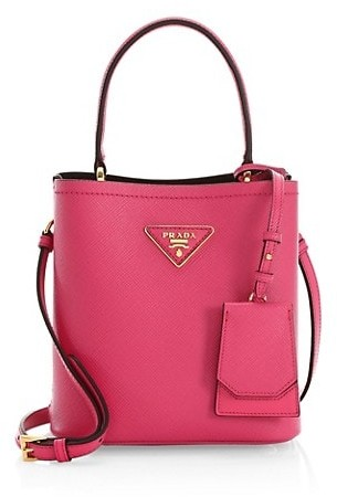 Thumbnail for your product : Prada Small Double Leather Bucket Bag