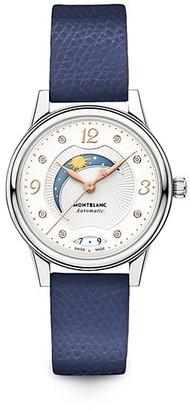 Montblanc Boheme Stainless Steel, Diamond & Leather Strap Day-Night Watch