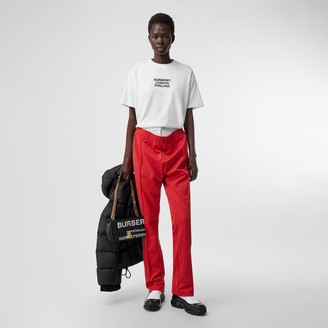 Burberry Embroidered ogo Cotton Oversized T-shirt