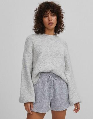 Bershka boxy jumper in grey